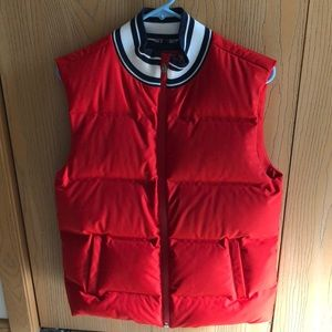 Tory Sport by Tory Burch Down Red Puffer Vest